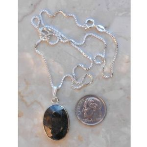 Jewelry - REAL SAPPHIRE ITALIAN sterling silver necklace